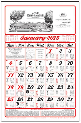 Funeral Home Calendars from Calendar Company