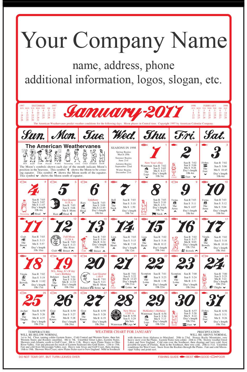2019 Almanac Calendar 2020 American Original Almanac Calendar: Calendar Company