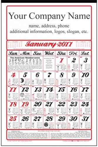 2020 Old Farmers Almanac Calendar
