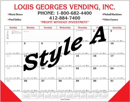 Deluxe Handmade Desk Calendar - Desk blotter calendar