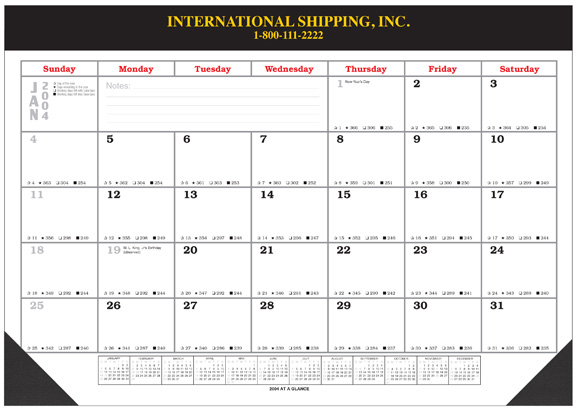 2019 desk pad blotter calendars  17x22 with vinyl top and