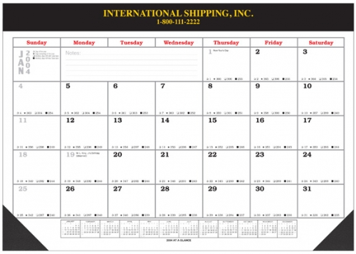 Desk Pad Blotter Calendars X With Vinyl Top And Corners - Desk blotter calendar