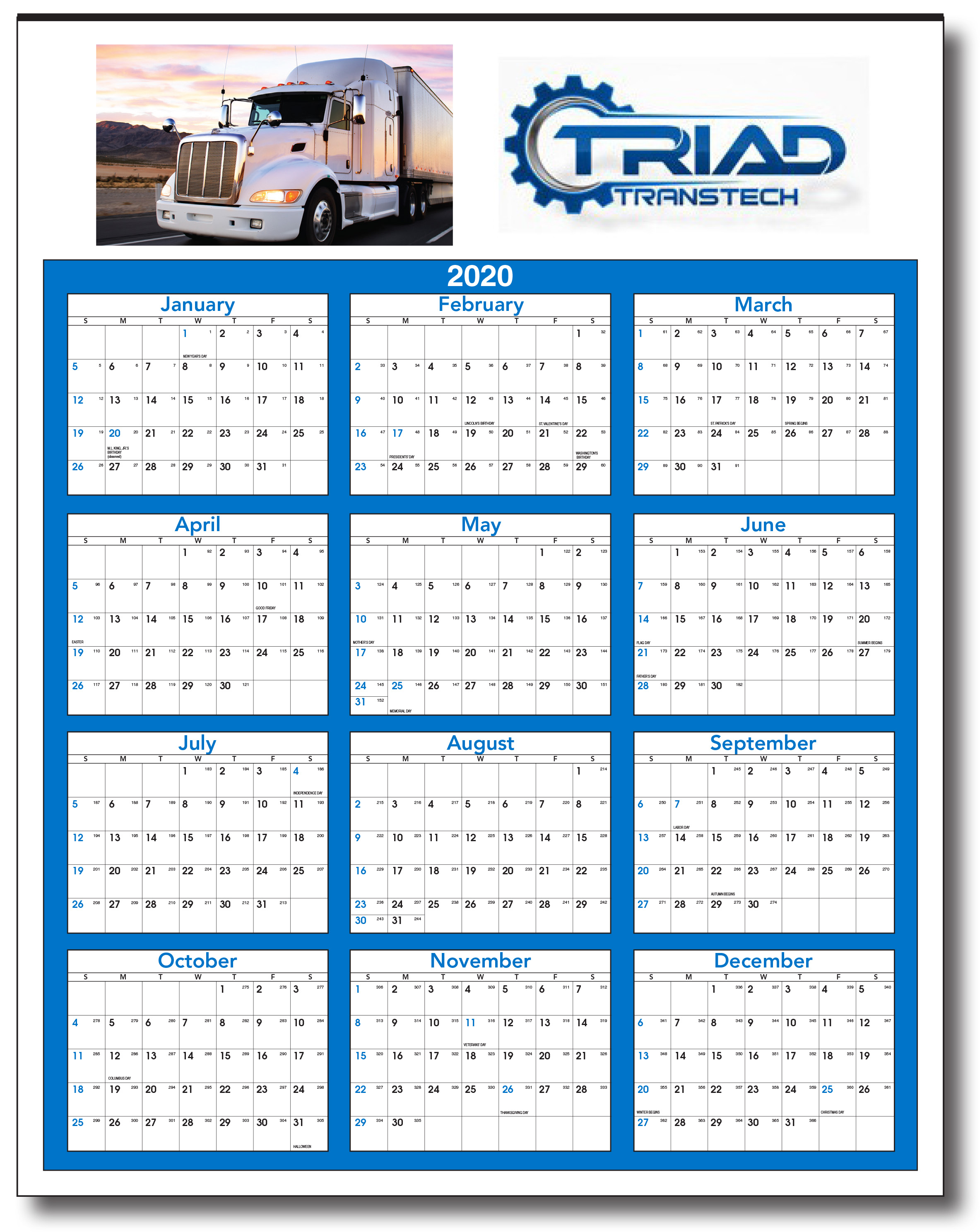 """2021 Full Color Year At A Glance 22""""x28"""": Calendar Company"""