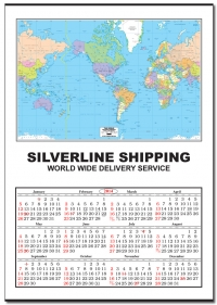 2020 Jumbo United States Map Wall Calendar: Calendar Company