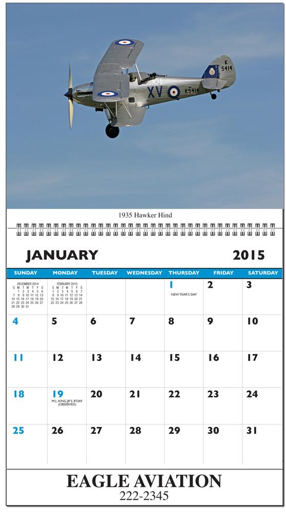 2019 Military Amp Classic Aircraft Calendar Calendar Company