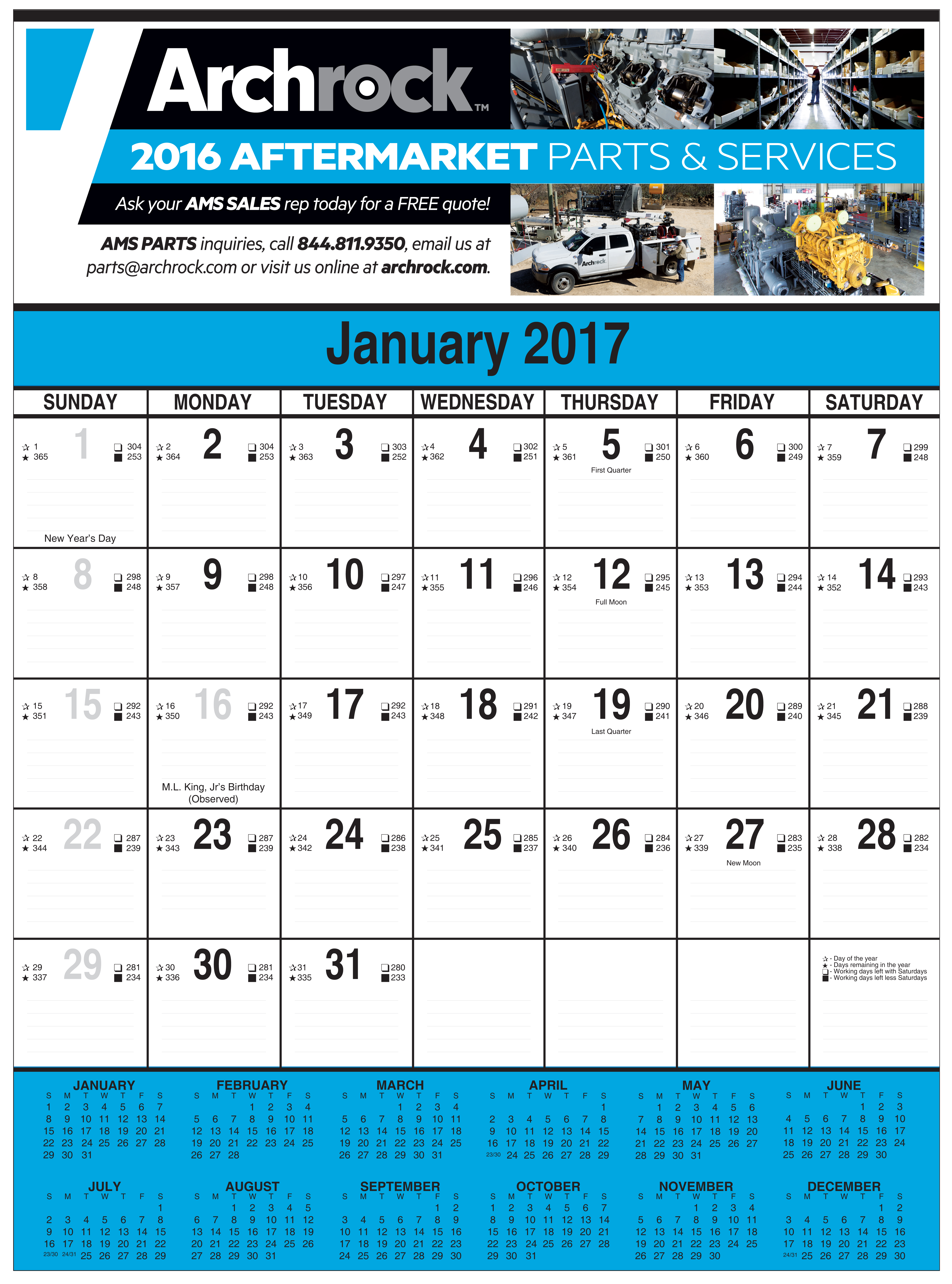 Working Days Calendar 2020 2020 Custom Full Color Contractor's Calendar: Calendar Company