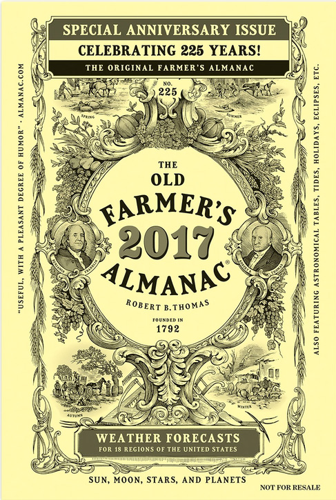 2018 almanac book for farmers city folk calendar company for Farmers almanac fishing calendar
