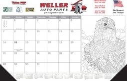 Advertising Business Calendars From Calendar Company - Desk blotter calendar