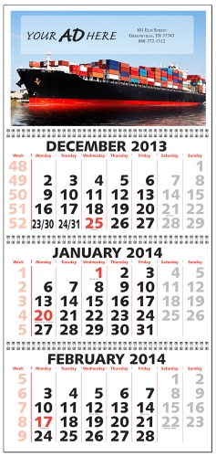 three month calendar 2018