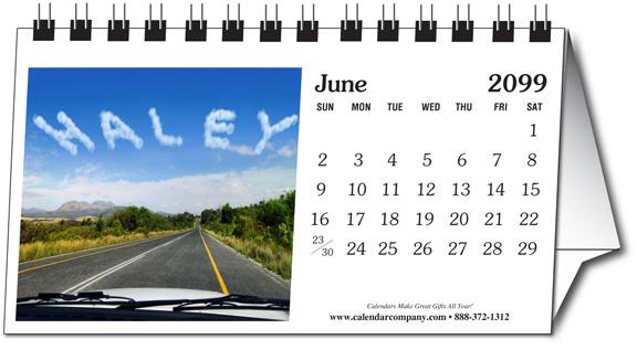 2018 personalized photo name small desk calendar calendar