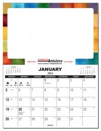 2018 Repositionable Stainless Steel Refrigerator Calendar